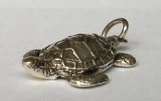 Sea Turtle Necklace Scuba Skin Diver Jewelry Sterling
