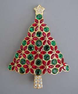Swarovski Crystal $135 Christmas Tree Annual Pin 2006 Holiday sterling