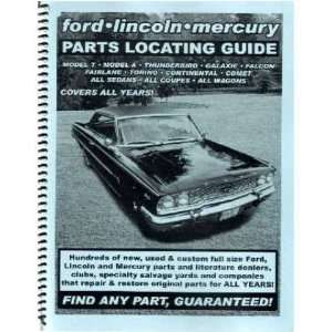 FORD LINCOLN MERCURY Parts Locating Guide Book List Automotive