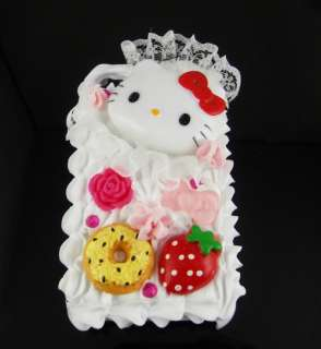 Hello kitty 3D Cake Cream Hard Cover Case for All Apple iPhone 4 4G 4S
