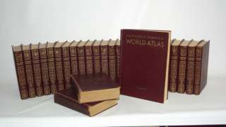 RARE 1955 Encyclopedia Britannica 27 Book Series World Atlas