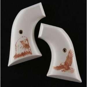 Super Blackhawk Scrimshaw Ivory Polymer   Eagle W/Talons