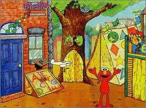 Sesame Street Elmos Preschool PC MAC CD number letter sound shape