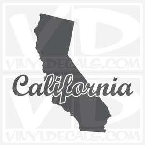 California Style 2 State Vinyl Decal Sticker Cali