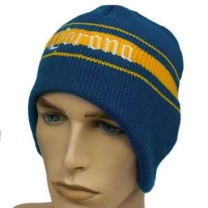 HAT KNIT BEANIE TOQUE EAR FLAPS CORONA BEER CERVEZA BLUE