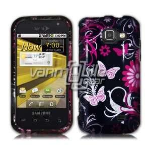 VMG HTC Samsung Transform   Black/Pink Butterfly Design Hard 2 Pc Case