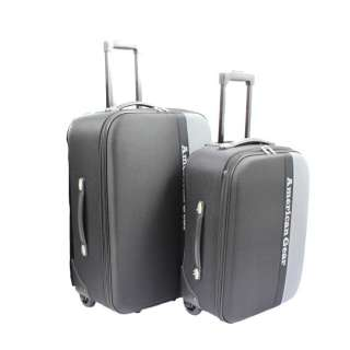 American Gear Expandable Upright 2 Piece Luggage Set   Black & Gray
