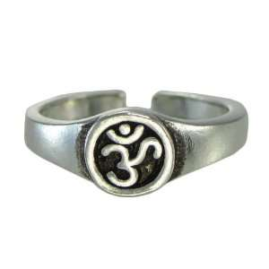 Aum Om Symbol Toe or Pinky Ring Body Jewelry Hindu Buddhist: Jewelry
