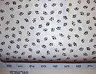 BY 1/2 YD BLACK PAW PRINTS ON WHITE~RJR FABRIC~BARE ESSENTIALS~CAT