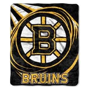 Boston Bruins Super Soft Sherpa Blanket