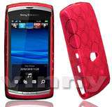 BLACK LEATHER FLIP CASE COVER FOR SONY ERICSSON VIVAZ