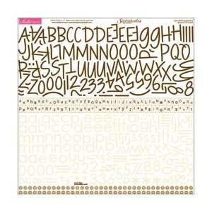 Bella Blvd Sophisticates Cardstock Alphabet Stickers Brownie & Cream