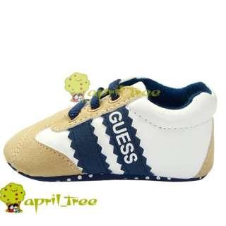 Boy Infant shoes Sneaker Prewalker soft soled(C89)size 2 3 4