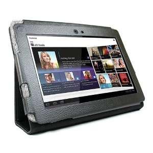 KIQ Black Portfolio Leather Case Cover for Sony Tablet S S1