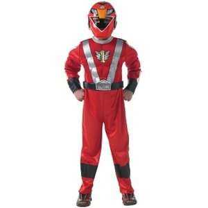 Red Power Rangers Childs Fancy Dress Costume S 122cms