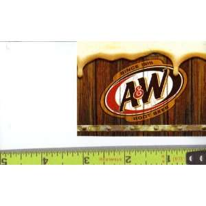 Medium Square Size A&W Root Beer Logo Soda Vending Machine
