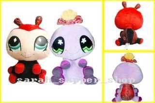 2PCS Littlest Pet Shop LADYBUG & SPIDER Soft Plush Doll