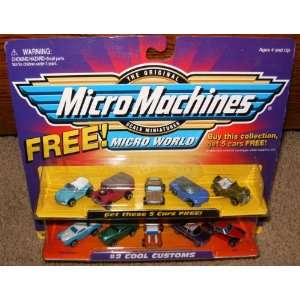 Micro Machines Cool Customs #2 + 5 Bonus Cars Collection Toys & Games