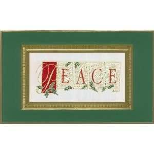2011 Brett Collection Ornate Peace Luxury Christmas Card