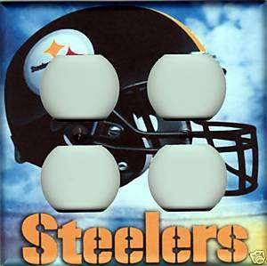 Pittsburgh Steelers Double Outlet Plate Cover   Clouds