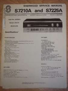 Sherwood Service Manual~S 7210A/7225A Stereo Receiver on