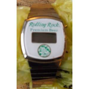 Vintage 1980s Rolling Rock Beer Digital Watch Everything