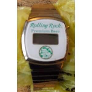 Vintage 1980s Rolling Rock Beer Digital Watch Everything