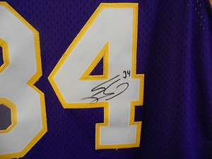 Shaq ONeal Lakers AUTOGRAPHED jersey sz XXL Great Item with COA NIKE