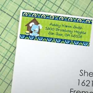 Boy Puppy Dog   30 Personalized Baby Shower Return Address