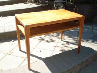 CONANT BALL RUSSEL WRIGHT SOLID WOOD END TABLE MID CENT
