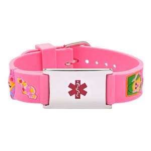 6029   Rubber Childs Watch Band Pink Girls & Hearts