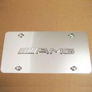 Mercedes AMG Chrome Logo Aluminum Semi Mirrored Front