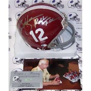 /Hand Signed Alabama Crimson Tide Mini Helmet