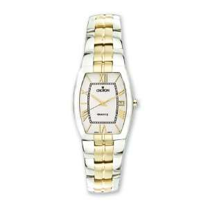 Croton Ladies Stainless Steel Two tone Champagne Dial