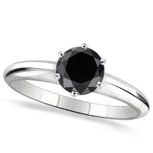 3 ctw 14k Solid WG 6 Prong AA Quality Black Diamond
