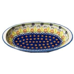 Polish Pottery Oval Serving Dish: Kitchen & Dining