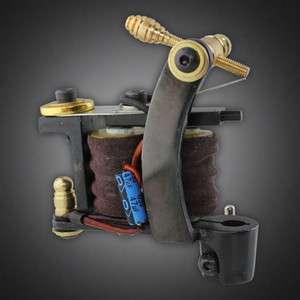 New Handmade Custom Tattoo Machine Pro Gun Dual 10 Wrap Coils Set