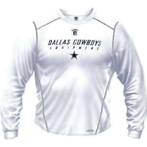 Dallas Cowboys  White  Speedwick Performance Long Sleeve Shirt