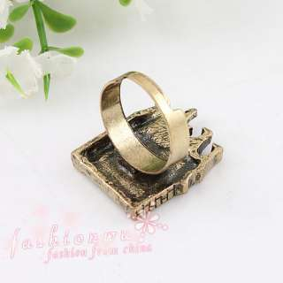 Stylish Premier Design Enamel House Shaped Open Jewelry Ring