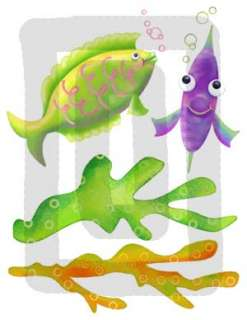 SEA LIFE FISH BABY NURSERY WALL DECOR STICKERS DECALS