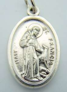 Catholic 1 Medal Charm Pendant Pet Animal Saint Francis St Anthony