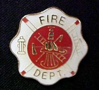 Maltese Cross Fire Department Fireman Lapel Pin Tac New