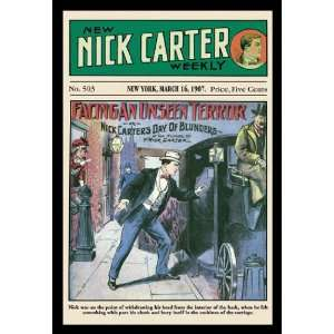Nick Carter Facing an Unseen Terror 20x30 poster