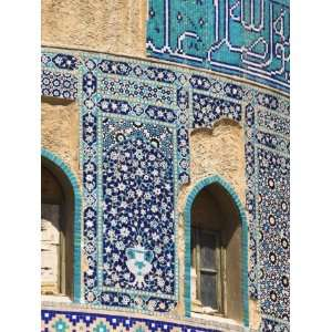 of Turquoise Glazed Tiles on Late Timurid Style Shrine of Khwaja Abu