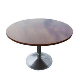 42 Mid Century Round Chrome Saarinen Style Table