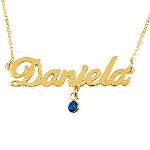 18K Gold Plated Sterling Silver Name Necklace with