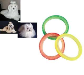 500 pc 3/8 Grooming Hair Band Rubber Latex Dog Bow NEON