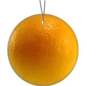 Orange Fruit Design Glass Round Christmas Tree Ornament Suncatcher