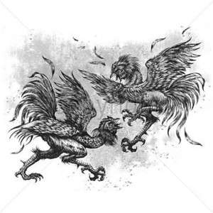 SHIRT   BIKER   Fighting Roosters   SM XL