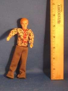 Vintage Composition Miniature Dollhouse Boy Doll 5 Tall Ankle High